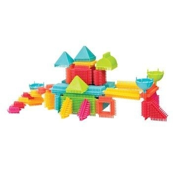 Конструктор-бристл Bristle Blocks Battat Семья (85 деталей и фигурок, в кейсе) Battat