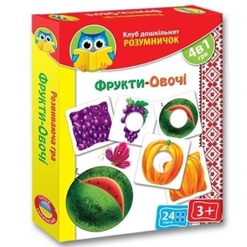 Розумничок Vladi Toys Фрукты-овощи (укр.) (VT1306-06) Vladi Toys