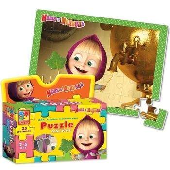 Купить Пазлы, шнуровки и головоломки, Пазлы Vladi Toys Маша и Медведь Маша и Самовар (VT1105-01)