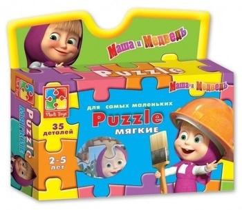 Купить Пазлы, шнуровки и головоломки, Пазлы Vladi Toys Маша и Медведь Маша на руках (VT1105-04)