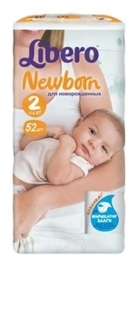 Подгузники Libero Newborn Mini 2 (3-6 кг) 52 шт. - Pampik