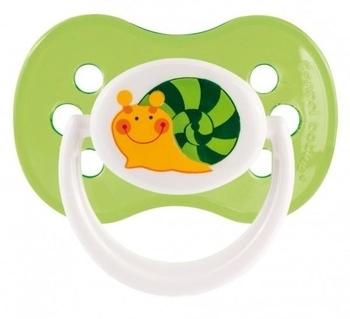 """Силиконовая круглая пустышка Canpol Babies """"Веселый сад"""" (18+ месяцев), зеленый (22/558) Canpol babies"""