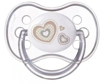 Силиконовая симметричная пустышка Canpol Babies Newborn Baby (0-6 месяцев), белый (22/580)