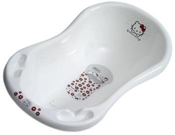 Ванночка Maltex Hello Kitty со сливом и ковриком, 100 см, белая Maltex