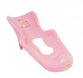 """Сиденье для ванны  Maltex """"Зебра"""" с нескользящим ковриком, розовое Maltex"""