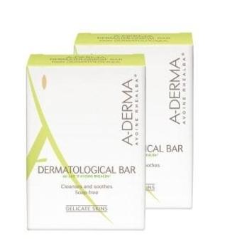 Дерматологическое мыло A-Derma на безмыльной основе для раздраженной кожи, 2х100 г A-Derma