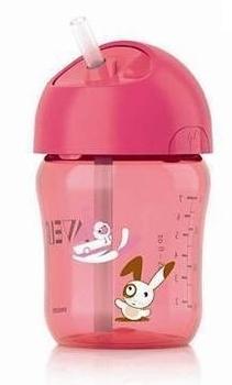 Чашка с трубочкой Philips Avent, 260 мл, розовая (SCF760/00) Philips AVENT
