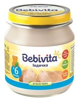 Пюре Bebivita Индейка, 100 г Bebivita