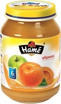 Фруктовое пюре Hame яблоко и абрикос, 190 г Hame
