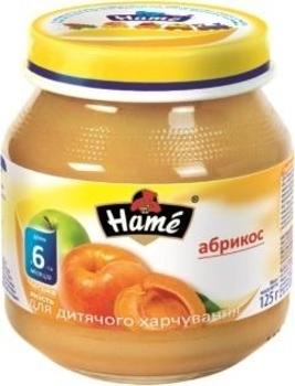 Фруктовое пюре Hame яблоко и абрикос, 125 г Hame