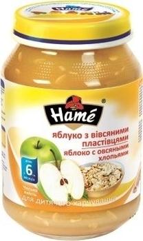 Пюре Hame яблоко с овсяными хлопьями, 190 г Hame