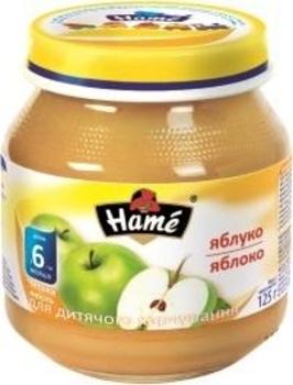 Фруктовое пюре Hame яблоко, 125 г Hame