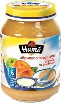 Пюре Hame яблоко и абрикос со сливками, 190 г Hame