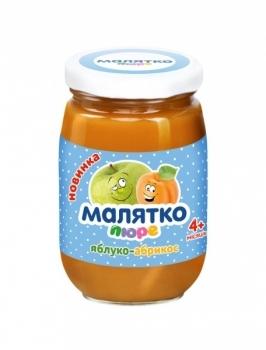 Пюре Малятко Яблоко-абрикос, 180 г Малятко