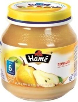 Фруктовое пюре Hame яблоко и груша, 125 г Hame