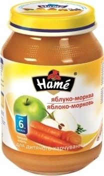 Фруктовое пюре Hame яблоко и морковь, 190 г Hame
