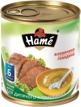 Мясное пюре Hame говядина, 100 г Hame