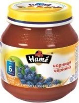 Фруктовое пюре Hame яблоко и черника, 125 г Hame