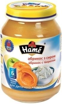 Пюре Hame яблоко и абрикос с творогом, 190 г Hame