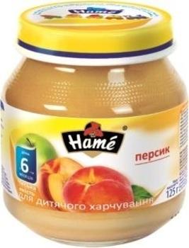 Фруктовое пюре Hame яблоко и персик, 125 г Hame