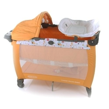Манеж-кровать Graco Contour Electra Hide and Seek, оранжевый Graco