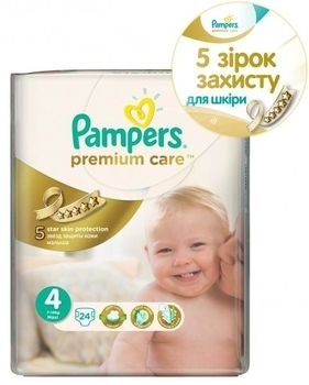 Подгузники Pampers Premium Care Dry Max Maxi 4 (8-14 кг) 24 шт.