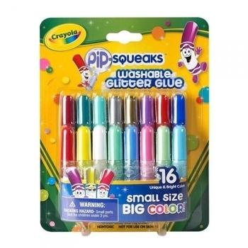 Жидкий клей Crayola с блестками, 16 цветов Crayola