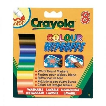 Фломастеры стираемые Crayola для письма на доске, 8 шт. Crayola