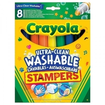 Фломастеры-штампы Crayola смываемые, 8 шт. Crayola