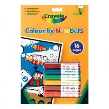 Книга-раскраска по номерам с фломастерами Crayola Crayola
