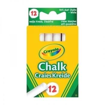 Мелки Crayola белые, 12 штук Crayola