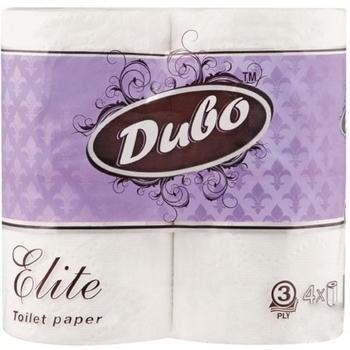 Трехслойная туалетная бумага Диво Elite, 4 рулона Диво