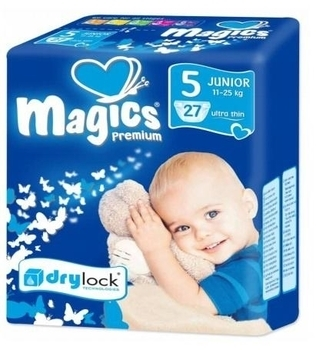 Подгузники Magics Premium Junior 5 (12-25 кг) 27шт.
