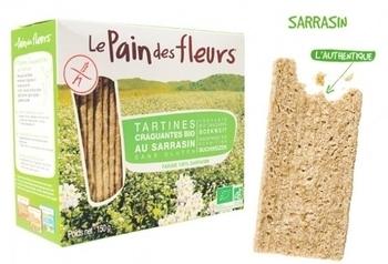 Органические хрустящие хлебцы Le Pain des fleurs из гречки, без глютена, 150 г Le Pain des fleurs
