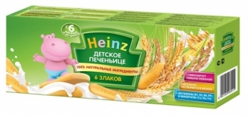 Детское печенье Heinz 6 злаков, 180 г Heinz