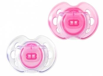 Ортодонтическая пустышка Tommee Tippee дышащая (0-6 мес.), розовая, 2 шт. Tommee Tippee