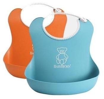 Набор из двух мягких нагрудников BabyBjorn, оранжевый и бирюзовый BabyBjorn