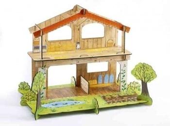 Купить:  3D-конструктор из плотного картона Djeco Ферма Амели , 21 элемент Djeco