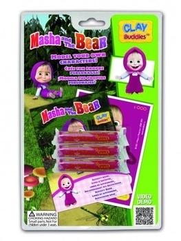 Купить Творчество и канцтовары, Базовый набор для лепки CLAYBuddies Маша и Медведь - Маша