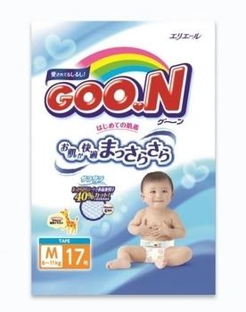 Подгузники Goo.N M (6-11 кг), 17 шт. Goo.N