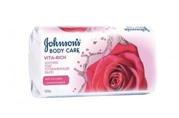 Мыло Johnson`s Body Care Vita Rich Успокаивающее с розовой водой, 125 г Johnson`s®