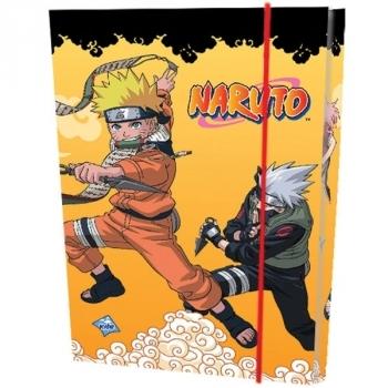 Папка для тетрадей на резинке, картон Naruto, в ассортименте Лунапак