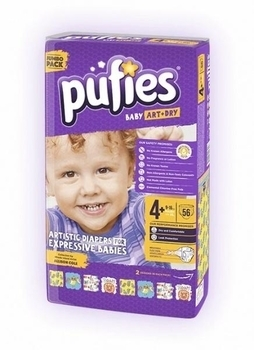 Подгузники Pufies Art&Dry Maxi Plus 4+ (9-16 кг), 56 шт.