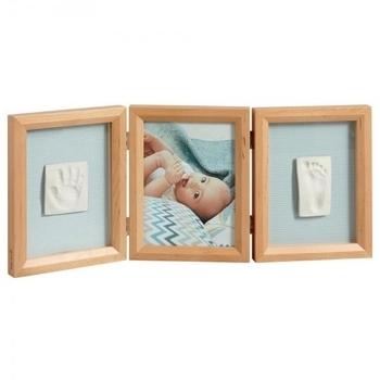 Тройная рамочка Baby Art с отпечатками, натуральная