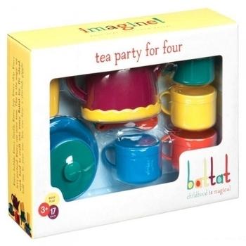 Игровой набор Battat Lite Чайная вечеринка на 4 персоны, 17 предметов Battat