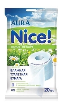 aura Влажная туалетная бумага Aura, 20 шт.