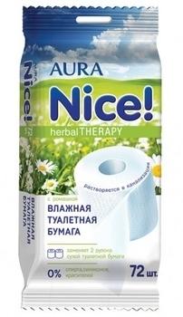 aura Влажная туалетная бумага Aura, 72 шт.