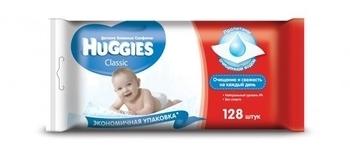 Влажные салфетки Huggies Classic, 128 шт. Huggies