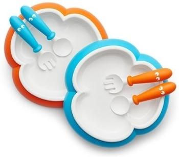 Детский набор посуды BabyBjorn, оранжевый и бирюзовый BabyBjorn