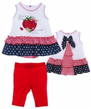 garden baby Комплект Garden Baby Ароматная клубника, р.68, белый с красным (40123-16)